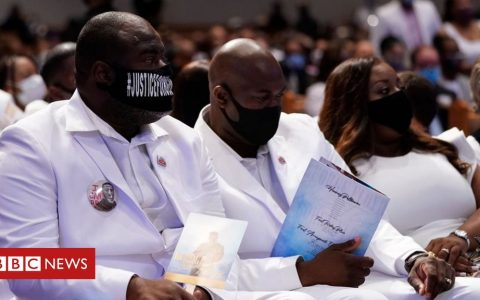 George Floyd's funeral hears calls for racial justice