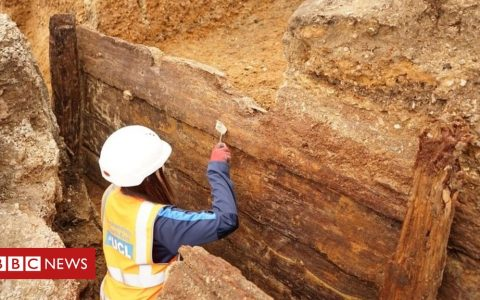 Red Lion: Archaeologists 'find London's earliest theatre'