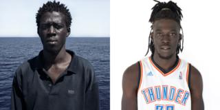 Portraits of those rescued while crossing the Mediterranean Sea
