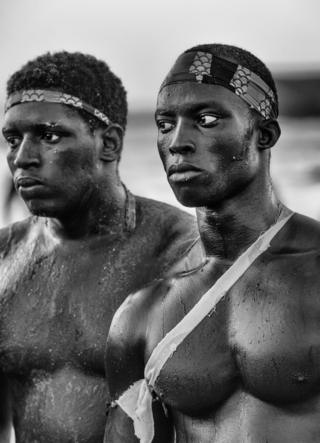 Senegalese wrestlers