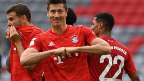 Robert Lewandowski has scored 30 goals in the Bundesliga this season.