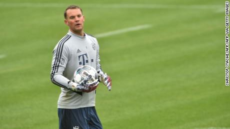 Neuer is on course to win an eighth consecutive Bundesliga title.