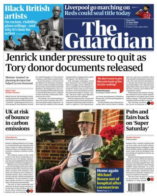 The Guardian front page 25.06.20