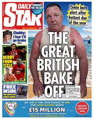 The Daily Star front page 25.06.20