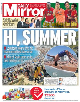The Mirror front page 25.06.20