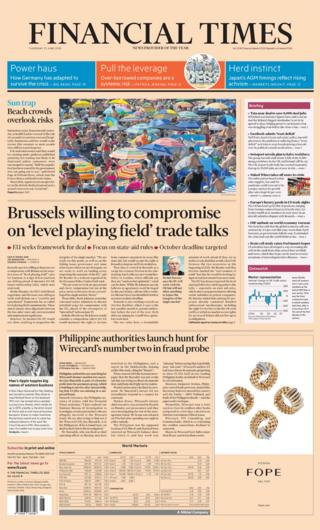 Financial Times front page 25.06.20