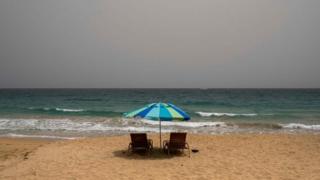 A vast cloud of Sahara dust is blanketing the city of San Juan, Puerto Rico on June 22, 202
