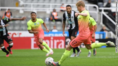 Kevin de Bruyne scored Manchester City's first goal Sunday on his birthday.