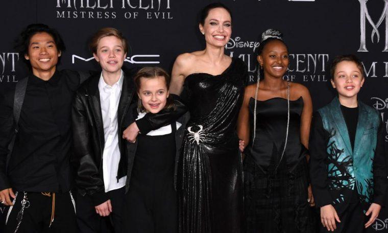 Angelina Jolie says she split from Brad Pitt for the sake of their kids