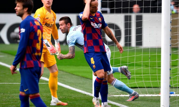 Barcelona's title hopes dim after draw at Celta Vigo