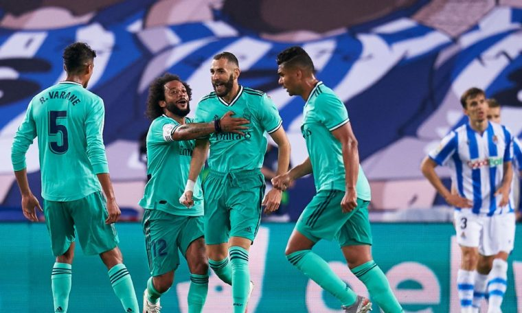 Benzema Vinicius both 8 out of 10 as Real Madrid beat Real Sociedad and grab pole position in La Liga