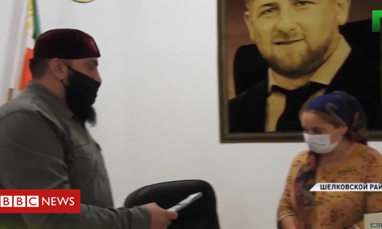 Chechnya's ruler gives bride money to hard-up grooms