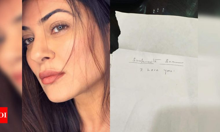 Find out who wrote the shortest yet the 'ultimate love letter' to Sushmita Sen, and it's not from her BF Rohman Shawl   Hindi Movie News