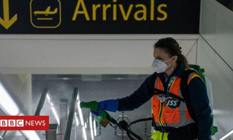 Coronavirus: Airport tests may provide 'early travel quarantine release'
