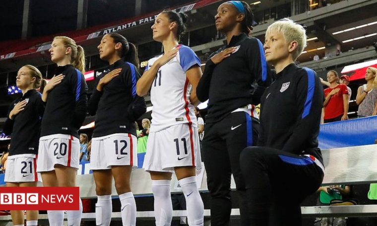 George Floyd: US Soccer overturns ban on players kneeling