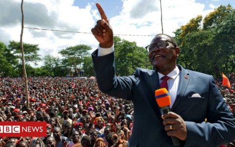 Lazarus Chakwera sworn in as Malawi president after historic win