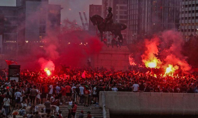 Liverpool condemn unacceptable fans behaviour after Premier League title win