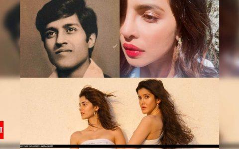 Priyanka Chopra Jonas sharing old pic of her dad to Ananya Panday's clicks with Shanaya Kapoor: Viral posts of the week | Hindi Movie News