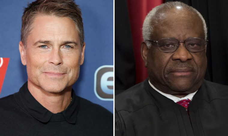 Rob Lowe's surprising friendship with Supreme Court Justice Clarence Thomas