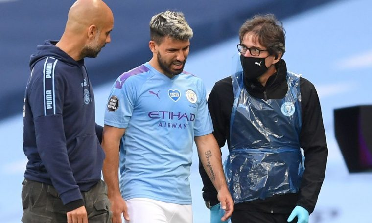 Sergio Aguero has knee damage will travel to Barcelona for more tests