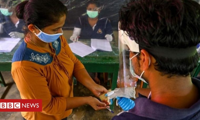 Sri Lanka holds coronavirus-proof test vote ahead of election