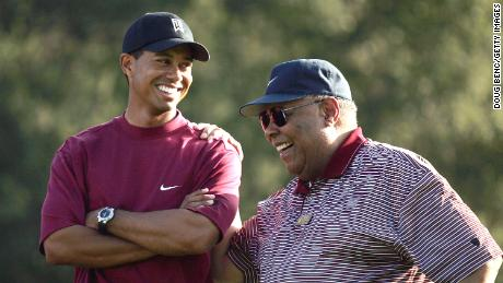 Tiger Woods' father Earl was his guiding light before his death in 2006.