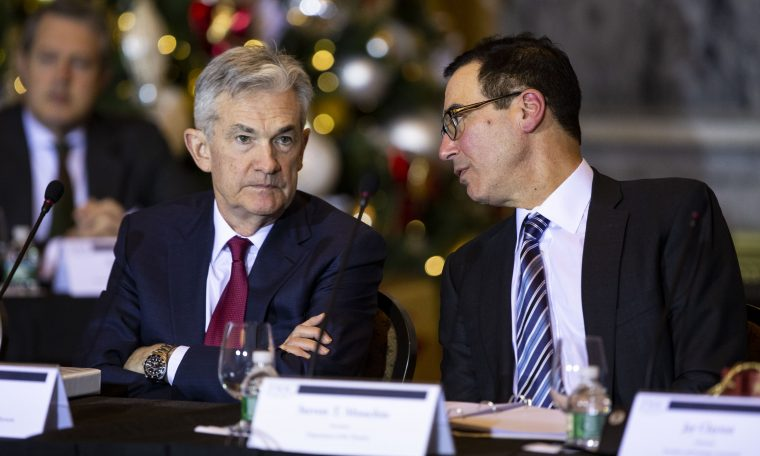 Treasury yields retreat as Fed's Powell warns of prolonged uncertainty