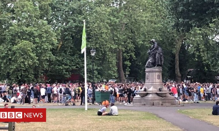 Two illegal street parties in London closed down by police