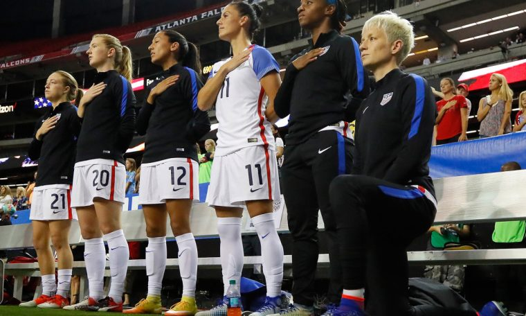 US Soccer to consider repealing ban on players kneeling for anthem