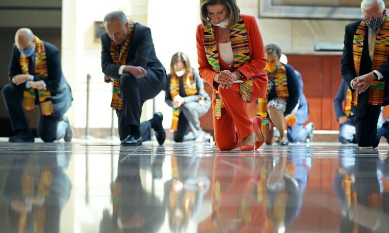 US Democrats wear kente to honour George Floyd