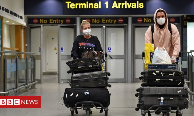 Coronavirus: England to scrap quarantine for arrivals from 'low risk' countries