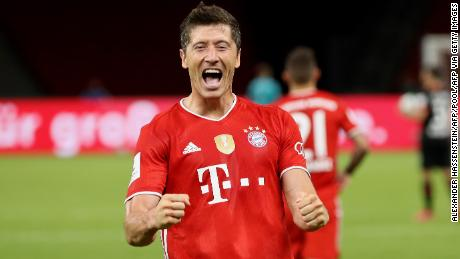 Robert Lewandowski scored his 50th and 51st goals of an incredible season.