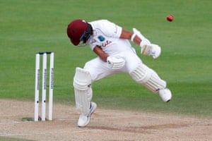 Dowrich ducks a bouncer from Archer.