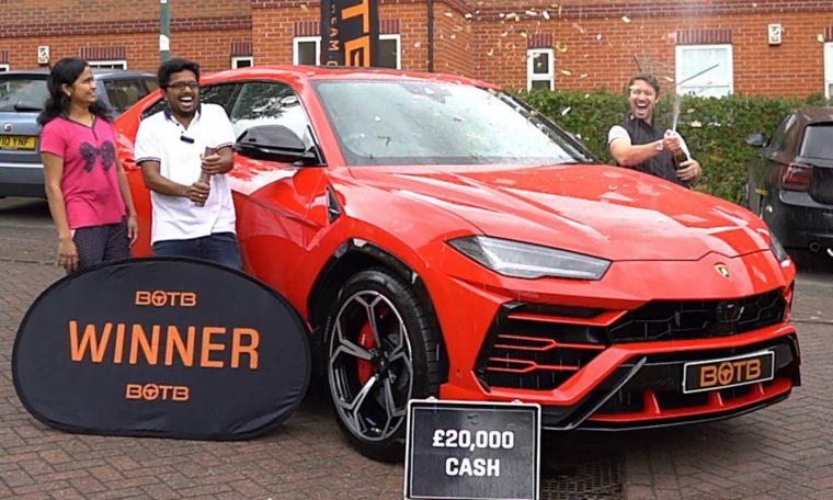 Shibu Paul Lamborghini Urus engineer wins lucky draw