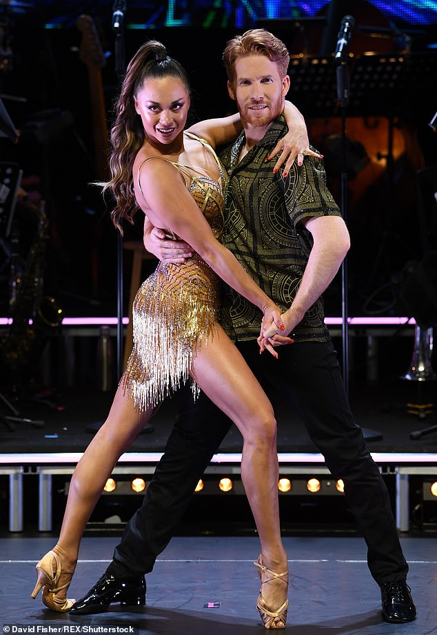Conflict: It was previously reported that Britain's Got Talent and Strictly Come Dancing are set for an Autumn ratings battle (Strictly's Katya and Neil Jones, pictured last year)