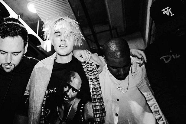 Justin Bieber Kanye West Scooter Braun on instagram