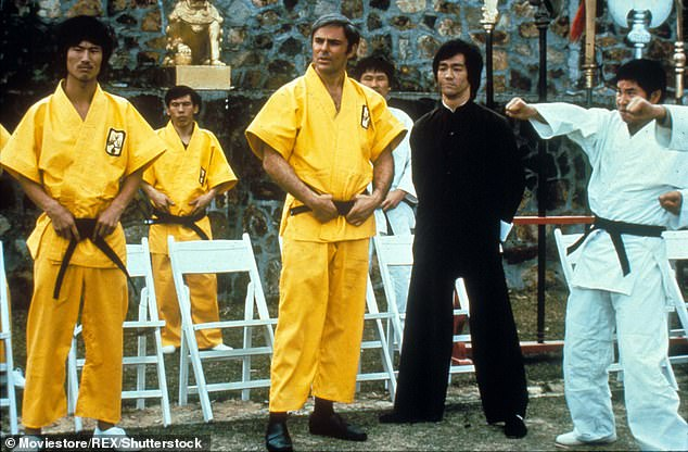 Breaking ground: Saxon would also score several roles in martial arts projects; most notably was the 1973 film Enter The Dragon, which was Bruce Lee's first mainstream movie