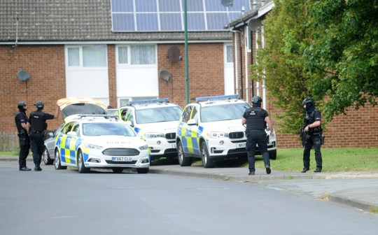 Tawney Road, where there was a hostage situation and police activity.