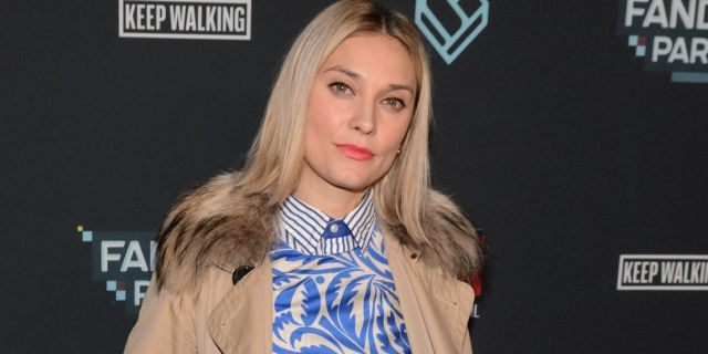 Spencer Grammer said an attacker injured her and a friend in New York City. Her father Kelsey Grammer has claimed she 'was not slashed.' (Daniel Boczarski/Getty Images for Fandom, File)