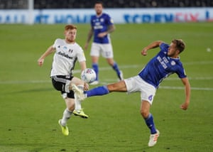 Fulham's Harrison Reed (left) in action with Cardiff City's Will Vaulks.