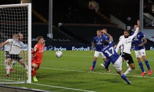 Lee Tomlin of Cardiff City scores the visitor's second goal with a volley.