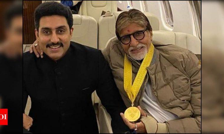 Abhishek Bachchan hits back at troll making fun of him and his father Amitabh Bachchan battling COVID-19 | Hindi Movie News