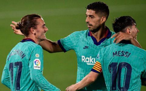 Barcelona Ratings - New formation sees Griezmann, Messi, Suarez combine brilliantly