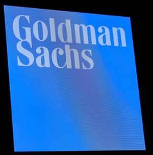 The ticker symbol and logo for Goldman Sachs.