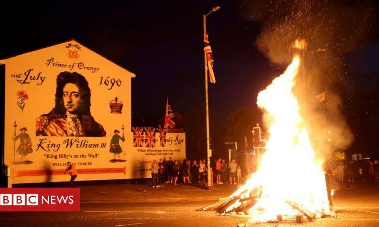 Bonfires lit to mark Eleventh Night