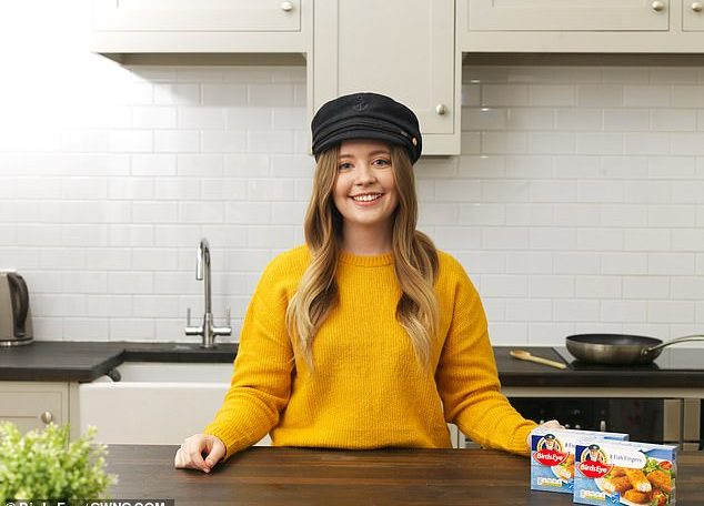 Charlotte Carter-Dunn, 24, from Gloucestershire, won a competition to be the face of Birds Eye fish fingers