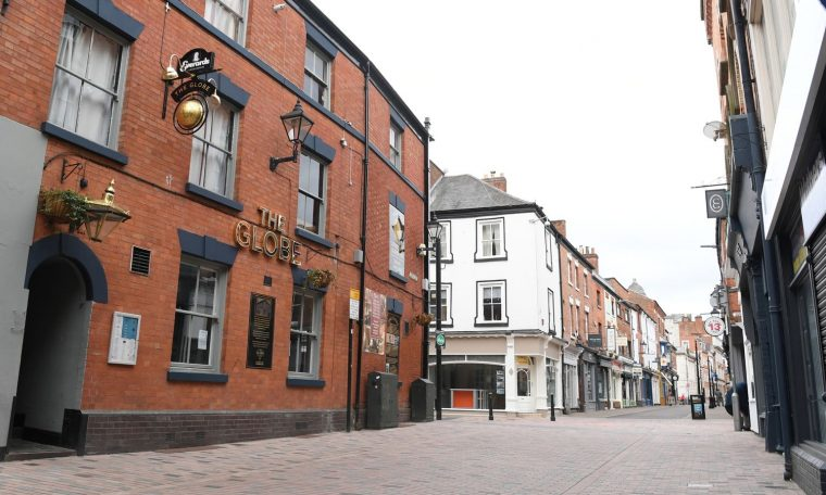 The Globe pub remains closed as lockdown continues in Leicester on July 04, 2020 in Leicester, England