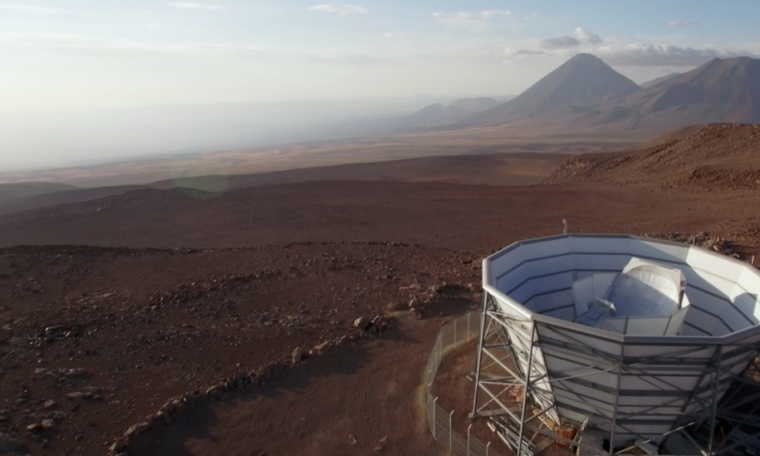 The 6m Atacama telescope in Chile surveyed the Cosmic Microwave Background