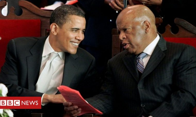 John Lewis: Former presidents join tributes to civil rights icon