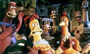 Sawalha voiced Ginger (front right) in the original Chicken Run.